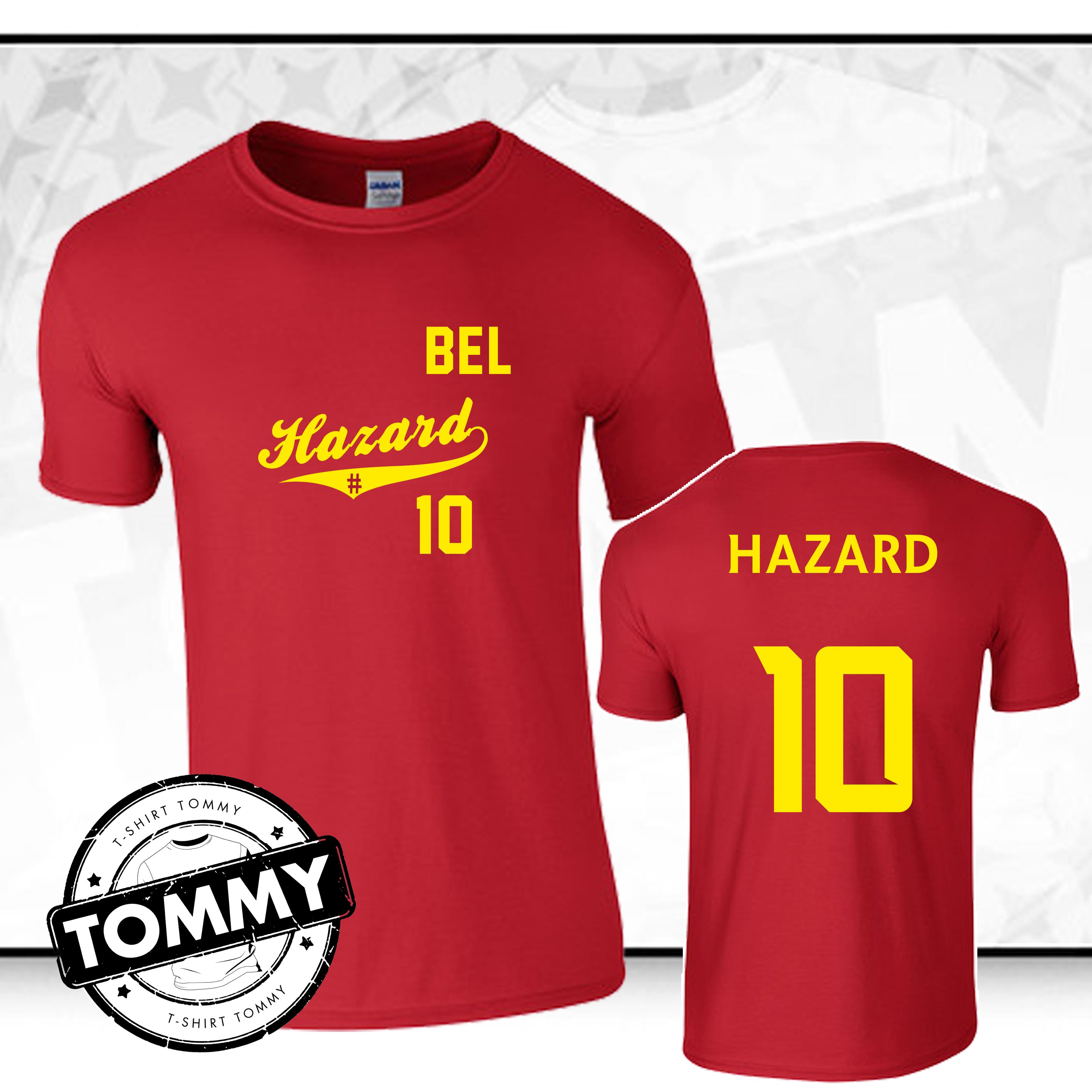 finest selection a8797 e8aab Details about Hazard #10 Belgium T-Shirt, Belgium World Cup 2018 Fan  T-Shirt Shirt