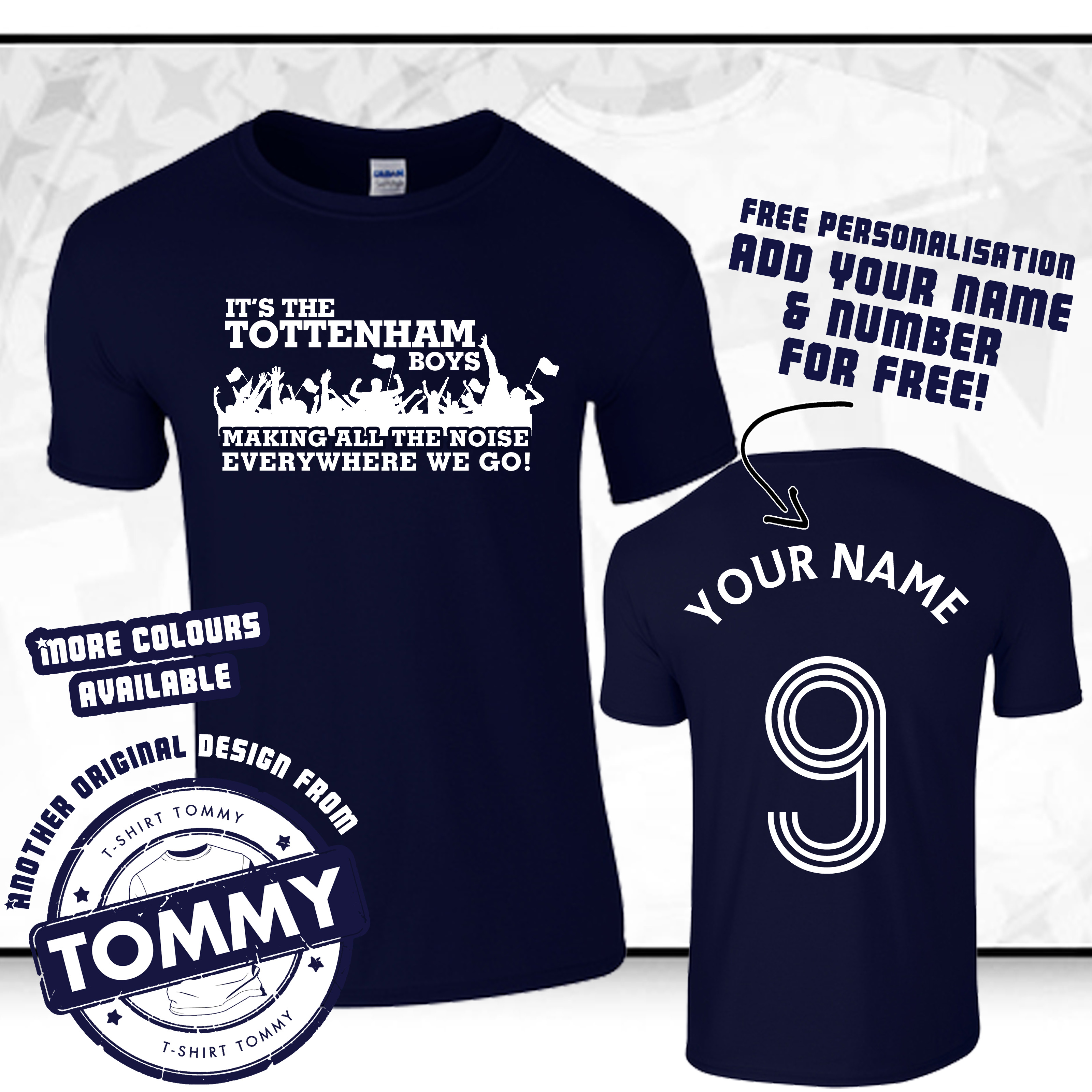 hot sale online bfc48 9f055 Details about Spurs T-Shirt It's The Tottenham Boys! Everywhere We Go COYS  Spurs Tee