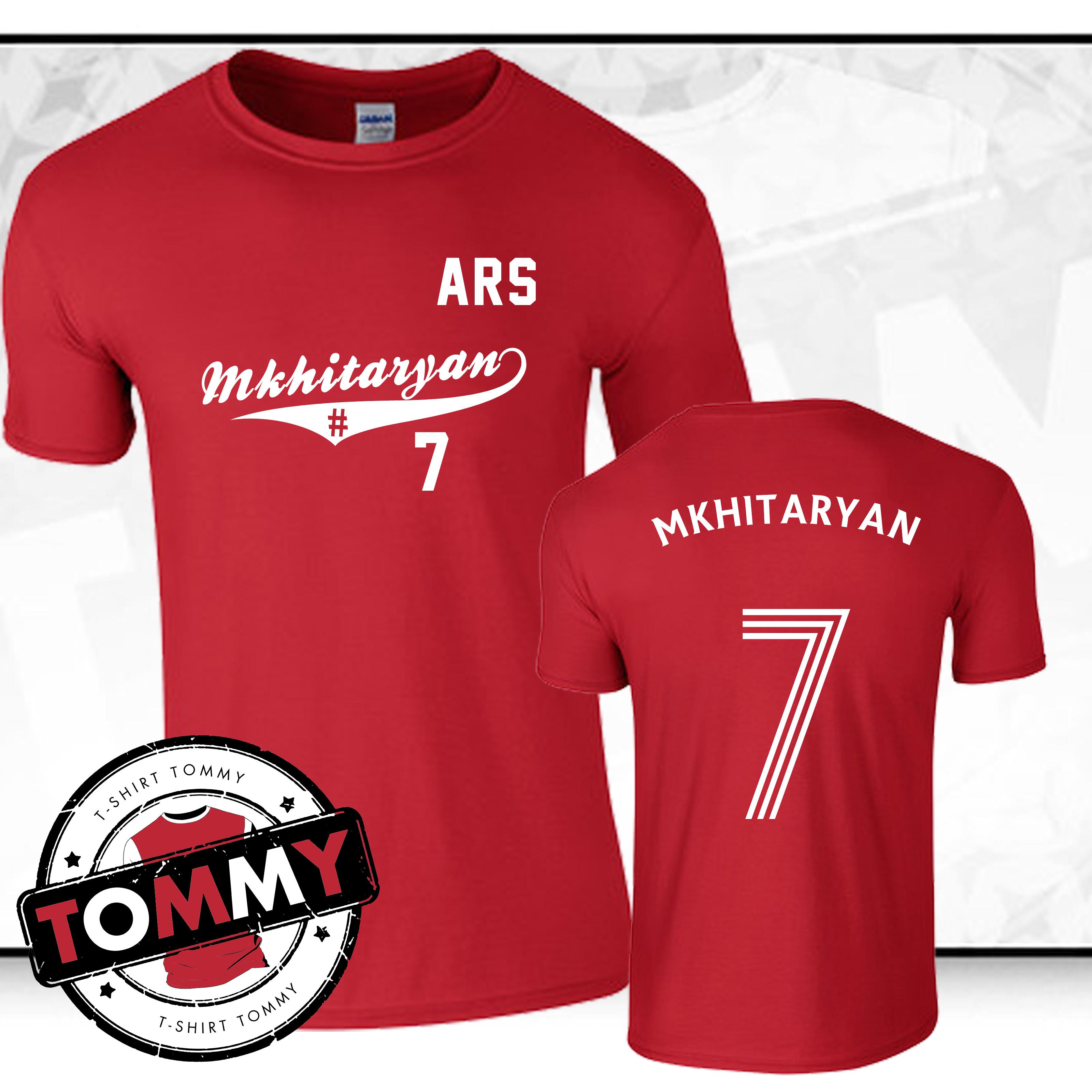 buy popular 9860f 5b384 Details about Henrikh MKH Henrikh Mkhitaryan #7 Arsenal FC T-Shirt, tshirt,  Arsenal tshirt