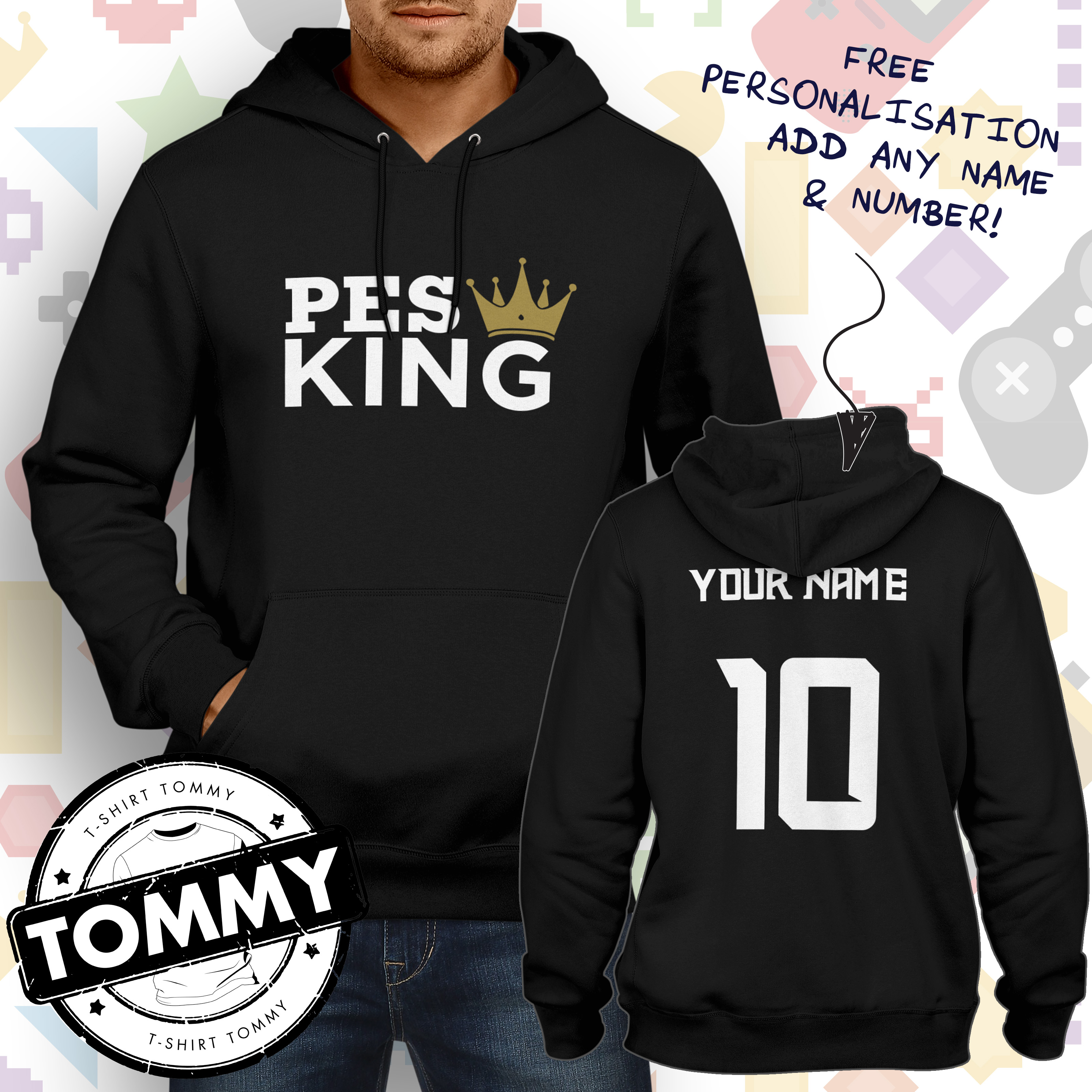 Hoodie Boxing Champ King Ring Boxer Knockout Club Gloves Gift Him Her