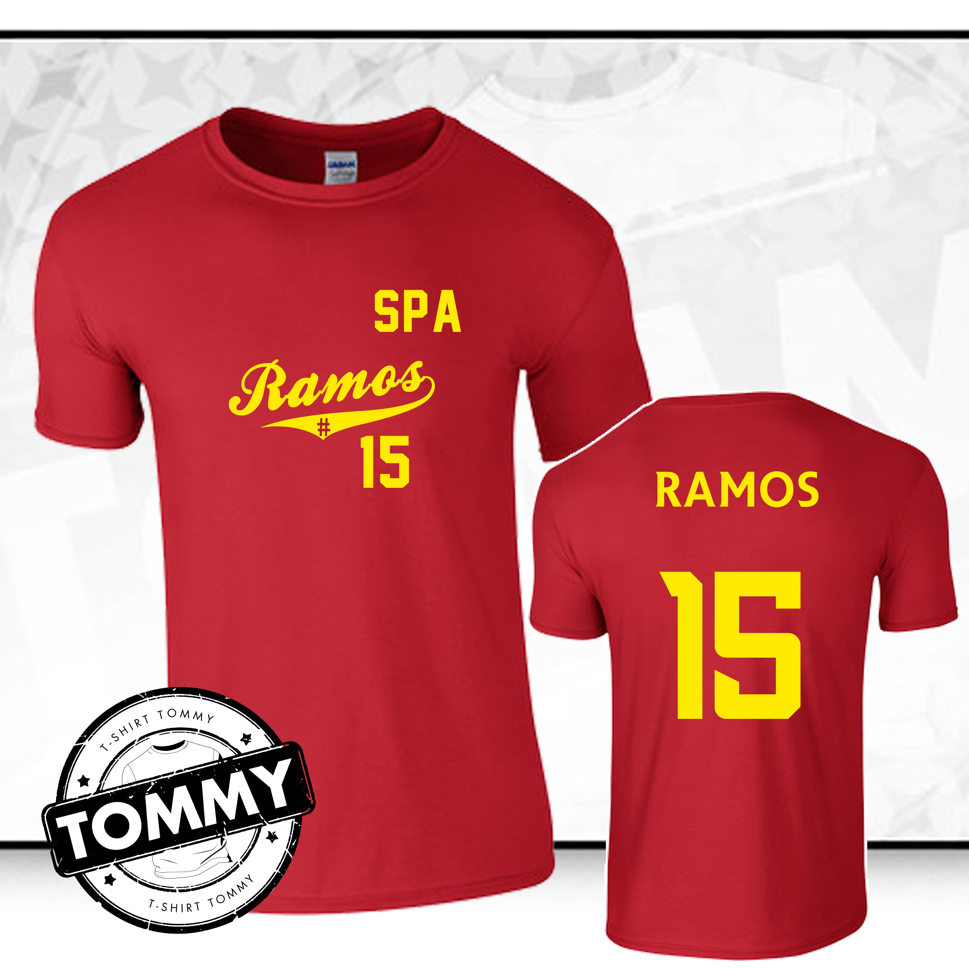 online store 5e478 fa691 Details about Sergio Ramos #15 Spain T-Shirt, Spain World Cup 2018 Fan  T-Shirt Shirt