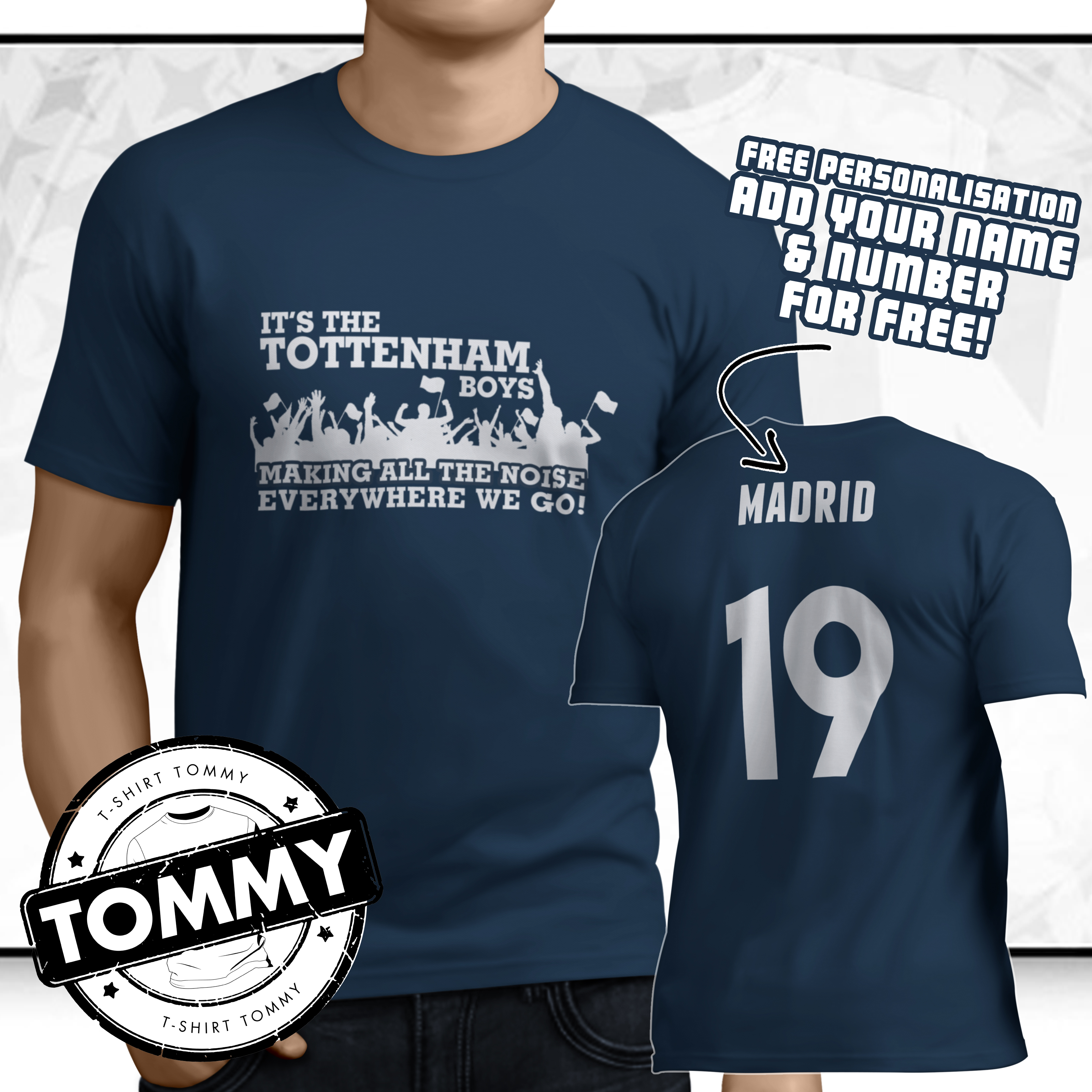 uk availability df906 0bc1b Details about Spurs Champions League Final T-Shirt, Madrid Kane COYS Its  The Tottenham Boys