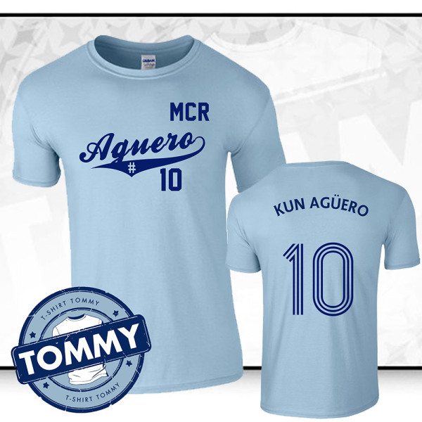 wholesale dealer 39668 d1137 Manchester City Sergio Aguero Fan T-Shirt
