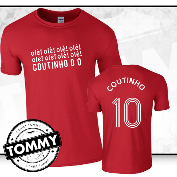 best website 5b03d 2d8bb 'Ole Ole Ole Coutinho' Liverpool FC T-Shirt