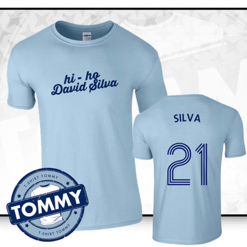 wholesale dealer 6f030 90198 'Hi Ho David Silva' Manchester City FC T-Shirt