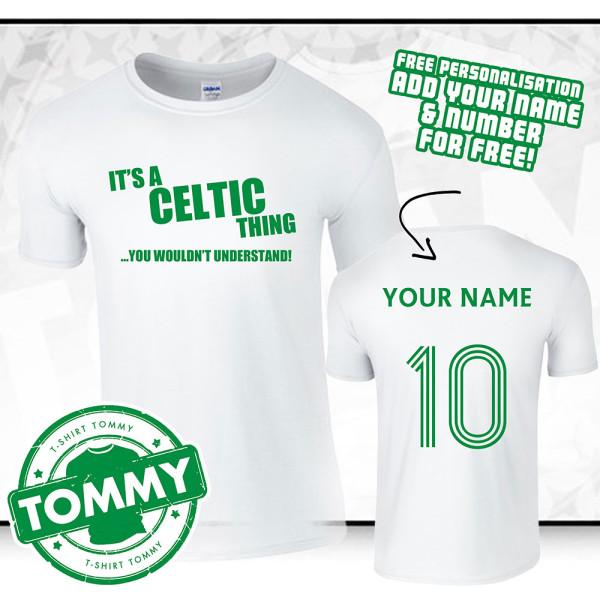 superior quality b308b 7c679 'It's a Celtic Thing' White Alternative Celtic FC T-Shirt