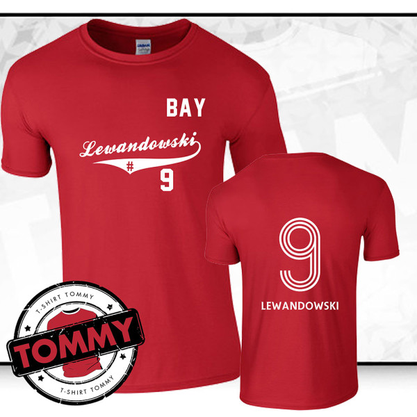 on sale d9cdc 485db Robert Lewandowski Bayern Munich FC T-Shirt