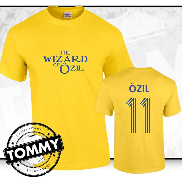 official photos 36c0f 87d33 Mesut Ozil 'Wizard Of Ozil' Arsenal FC Away T-Shirt