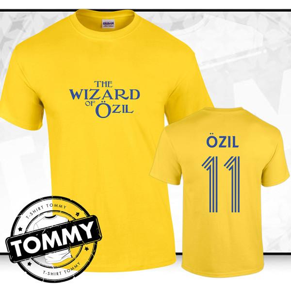 official photos 2d7a3 c982f Mesut Ozil 'Wizard Of Ozil' Arsenal FC Away T-Shirt