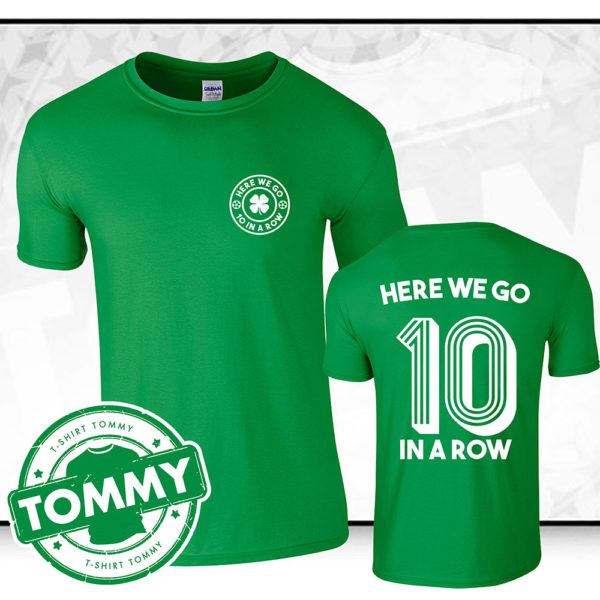 In Celtic FC FC T-Shirt | '10 A Row' Tommy T-Shirt
